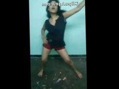 Desi girl sexy dance in shorts bouncing boobs