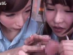 Japanese Nurses Hasumi and Anri Threesome Part 2