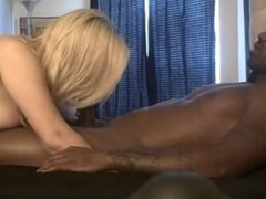 Thick white girl rides black cock