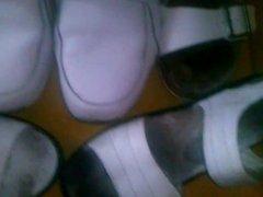 shoejob,cumshot on nurse shoes 6