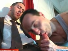 A innocent vendor guy serviced his big cock by a guy in spite of him!