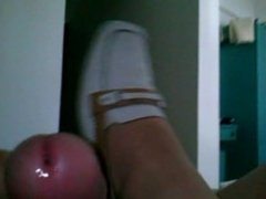 shoejob,cumshot with nurse shoes