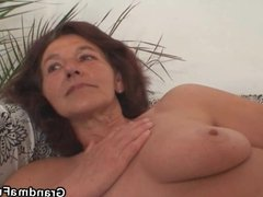 Old 60 yo bitch pleases two horny painters