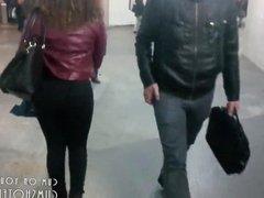 Spycam On Ebony Girl's Lovely Ass