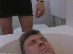 German nasty pee and spitting femdom humiliation