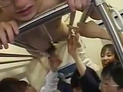 Femdom Schoolgirls Train