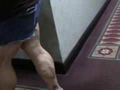 Massive calves walking