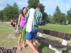 Risky public sex Eveline getting nailed on camping site