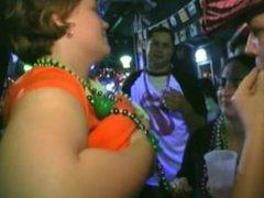 boob play Mardi Gras