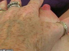 British grannies Georgie and Zadi love stuffing their pussy