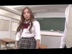 Hot asian student makes teacher lick dirty panties