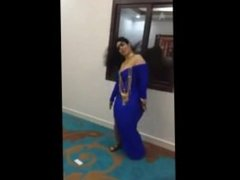 sexy arab big ass and long hair busty wife dancing