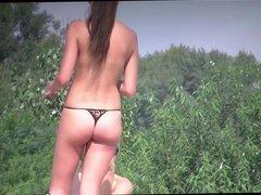 Naked Milfs Beach Voyeur HD Video Spycam