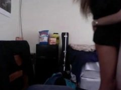 College fuck on a chair