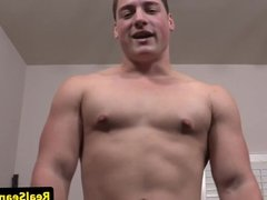 Sportive hunk cumdrenched by naughty jock