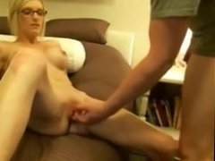 horny tiny blonde with big boobs fucks -see more videos on PORNGIRLSCAMS.CO