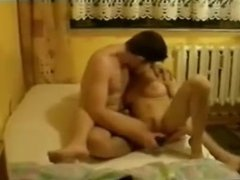 Passionate sex young russian couple at home