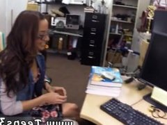 2 milf handjob first time College Student Banged in my pawn shop!