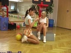 Lesbian milf seduces blonde Cindy and Amber tearing up each other in the