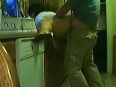 BBW mature in kitchen