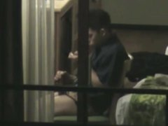 Young str8 neighbor caught through the window