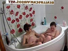 Reallifecam Nina and Kira taking bath3