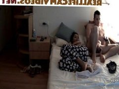 Reallifecam Isabel and Marcelo in the bedroom playing games