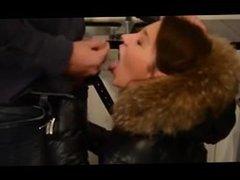 Julie Skyhigh in fur jacket