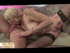Blonde European Granny Fucked