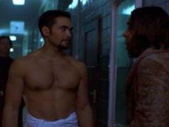 Mark in the bathhouse