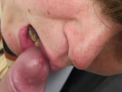 Dick sucking closeup homemade