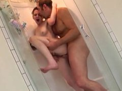 daddy and daughter shower together