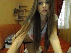 Very nice Russian girl webcam show