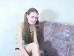 Valeria - Russian teen interracial debut