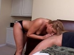 Lucky Old Man Gets Intimate Blowjob From Lauren Phoenix After Date