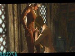 Honeymoon - Sexy elf gets fucked by futa babe - Skyrim