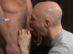 straight muscular guy tries his first cock..casting room
