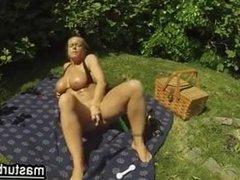 My masturbation in a public park