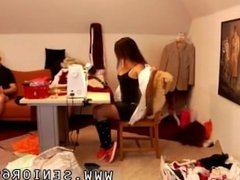 Brunette teen girlfriend pov first time Latoya makes clothes, but she