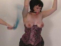 orgasm bondage gagged natali