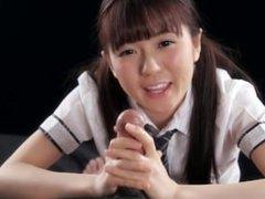 Handjob from a super cute japanese girl