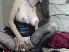 Hot naughty flexible cougar Delyla with big tits