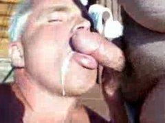 Silver daddy blowjob 4