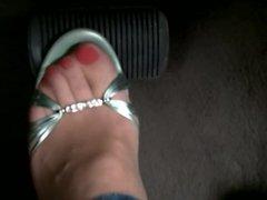 driving gren heels