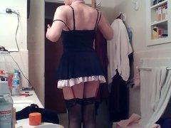 Tarty little sissy maid