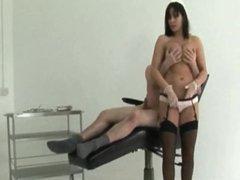 English slut Naughty Nurse play