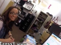 Bouncing tits doggy style College Student Banged in my pawn shop!