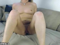 Blonde thinks of your cock while masturbating