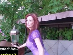 Kinky MILF Shanda Fay Fucks in the Backyard