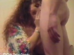 Curly Haired Milf Sucking And Fucking